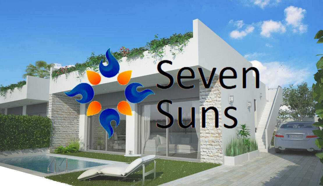 Seven Suns: siete viviendas unifamiliares con piscina en Roldán nueva construcción